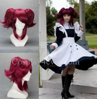 Black Butler Mey Rin Short Red Anime Cosplay Wig by MedusaLiu