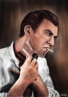 Daud (morning routine) by Wolchenka