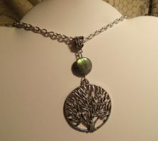 World tree and labradorite- necklace by Destinyfall