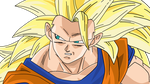 Dragonball Son Goku SSJ 3 Lineart Farbig by WallpaperZero
