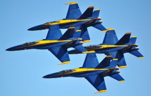 Blue Angels F/A-18 Minimal Space Delta Formation by fosspathei