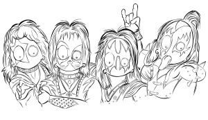 KISS WIP outlines by MsGothje