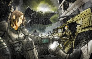 Soldiers in the Rain by ZipDraw
