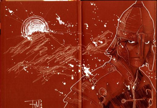 Sept Guerrieres book sketch by manapul