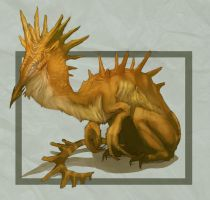 Golden Lizard by extracard