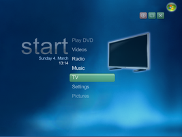Vista Media Center Beta 1 skin by fediaFedia