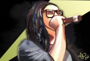 Skrillex on the Mic WIP by bassgeisha
