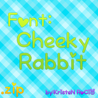 Font Cheeky Rabbit by RoohEditions