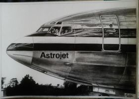 Boeing 707 nose drawing by alainmi