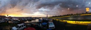 Lows Motor Speedway After the Storm - Panorama  by OddGarfield
