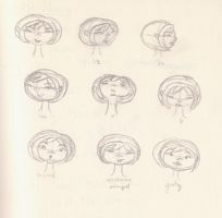 Face sketches by EvyEarthling