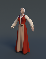 WIP: Female medieval costume by DeepBlueDesign