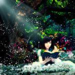 Girl Alice in wonderland tree magical by bandro
