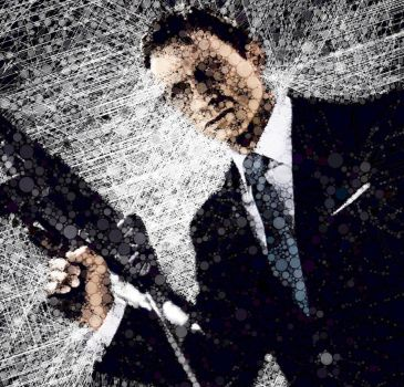 James Bond Abstract Portrait by CameronLiamIsaacs