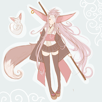 Fox girl adoptable ~SOLD~ by BayneezOne