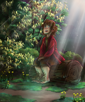 bilbo sang of lilies and starlings by murr-ma-ing