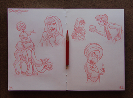 Animation Sketches - Aladdin by AngelGanev