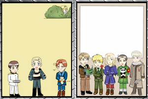 UPZS Hetaliad Sigsheet - Axis and Allies Chibis by adventvera16