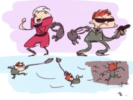 Bionic Commando, doodles 12 by Ayej