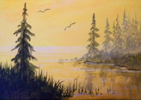 ACEO Peaceful Morning by annieoakley64