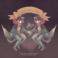 Fred and George Weasley by panda423