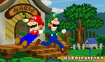 Luigi Drags Mario to Save The Princess by Hurricane360