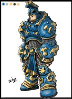 Mystery Armor Man by ZipDraw