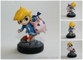 Outset Island Custom Toon Link Amiibo | Version 2 by PixelCollie