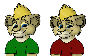 Jedward Lions by Charlie-Breen