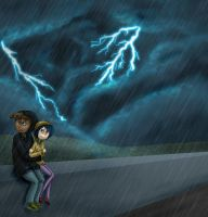 Lightning is scary sometimes by Zakeno