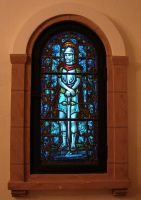 Stained Glass Window Knight by FantasyStock