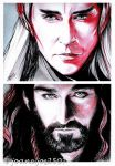 Thorin / Thranduil, battle of Kings by jos2507