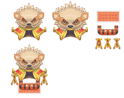 Arcanine Hut Tileset by GeoisEvil