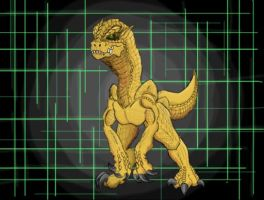 Agumon Redesign by AkagiGryphon