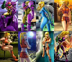 Zero Suit Samus Collage by Codyrin1