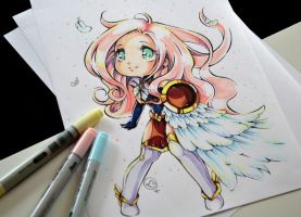 Chibi Warrior Goddess by Lighane