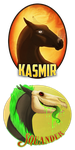Squander and Kasmir by Plaguedog