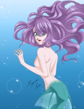 Carmie The Mermaid - Color by Shinta-Girl