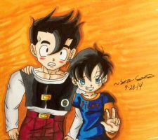 Gohan and Videl! :D (REMAKE WAHAHAHA XD) by dbzultrafan312000