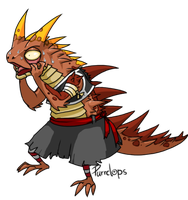 Thorny devil - me by Purrclops