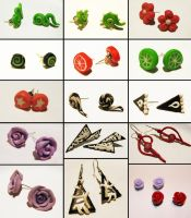 .: Polymer Clay Earring Set 1 :. by tanya1