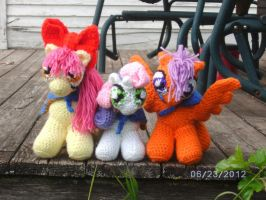 Cutie Mark Crusaders crochet ponies!! by cbs