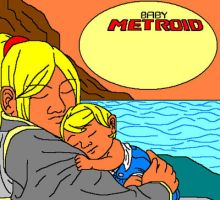 Virginia and baby Samus by Impmidna