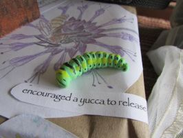 Experiencing Nature (AniseSwallowtail caterpillar) by Sofia-the-Dreamer