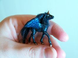 tiny black pegasus by AmandaKathryn