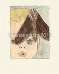 Untitled. Etching with watercolor by TanzenLilly