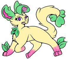 Fancy Leafeon 2.0 by CursedSkyWarrior