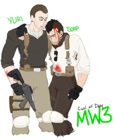 MW3: Yuri and Soap by JACK5ON