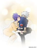 Kakashi and Anko in LOVE *Q* by Kamel7