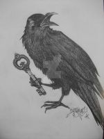 Crow With Key To The Underworld by RealityBitez